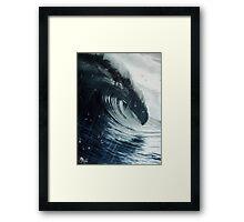 Ola y lluvia Framed Print