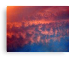 RED RIPPLES Canvas Print