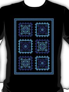 Traditional Folk Pattern - Blue T-Shirt