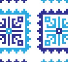 Traditional Folk Pattern - Blue Sticker