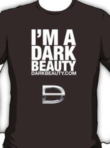 I'M A DARK BEAUTY Logo Wear white on black T-Shirt