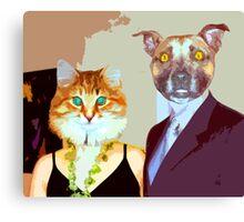 Mr. & Mrs. Dogg Canvas Print