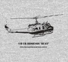 Huey Helicopter Graphic One Piece - Short Sleeve