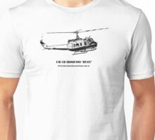 Huey Helicopter Graphic Unisex T-Shirt