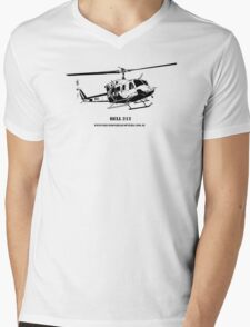 Bell 212 Helicopter  Mens V-Neck T-Shirt