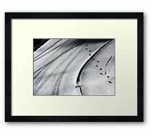 He was here ... Framed Print