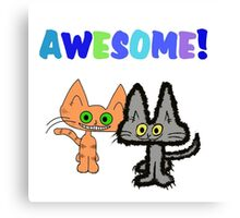 Two Kittens See Something Awesome  Canvas Print