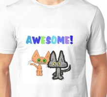 Two Kittens See Something Awesome  Unisex T-Shirt