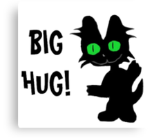 Kitty Gives Big Hugs Canvas Print