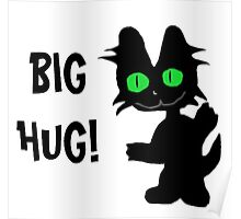 Kitty Gives Big Hugs Poster