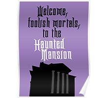 Haunted Mansion - Disneyland Poster