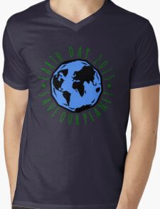 Save Our Planet Earth 2015 Mens V-Neck T-Shirt