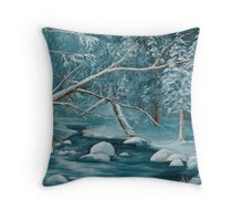 Winter Snow Throw Pillow