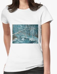 Winter Snow Womens Fitted T-Shirt