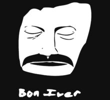 Stencil Bon Iver face Kids Clothes