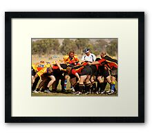 Masters Games - Rugby Union 2009 SCRUM Framed Print