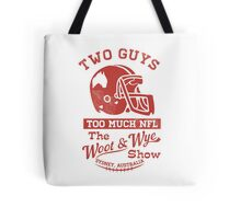 Two Guys Too Much NFL Red Edition Tote Bag