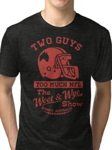 Two Guys Too Much NFL Red Edition Tri-blend T-Shirt