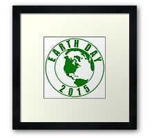 Earth Day 2015 Green Design Framed Print
