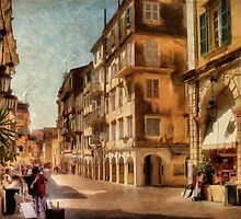 Waiting For The Tourists Painterly by Lois  Bryan