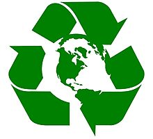 Earth Day Recycle Reuse Reduce Design Photographic Print