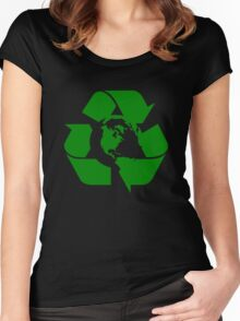 Earth Day Recycle Reuse Reduce Design Women's Fitted Scoop T-Shirt