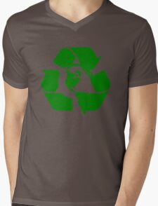 Earth Day Recycle Reuse Reduce Design Mens V-Neck T-Shirt
