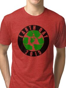 2015 Earth Day Recycle Design Tri-blend T-Shirt