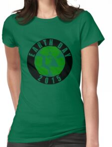 2015 Earth Day Recycle Design Womens Fitted T-Shirt