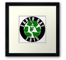 2015 Earth Day Recycle Design Framed Print