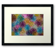 Multi-Colored Circles  Framed Print