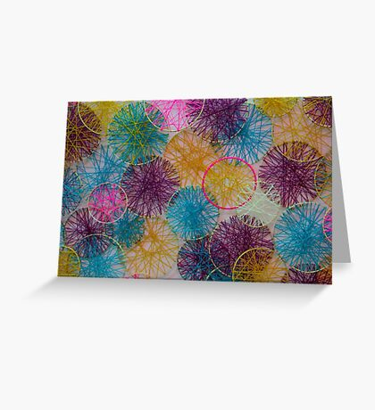 Multi-Colored Circles  Greeting Card