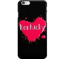Kentucky Splash Heart Kentucky iPhone Case/Skin
