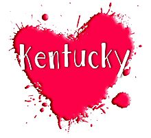 Kentucky Splash Heart Kentucky Photographic Print