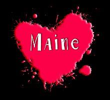 Maine Splash Heart Maine by Greenbaby