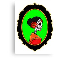 Sugar Skull Lady Canvas Print