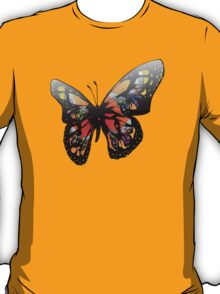 Colorful Butterfly Design T-Shirt