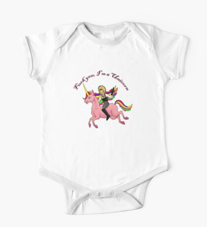F You I'm a Unicorn One Piece - Short Sleeve