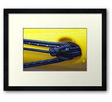 Lines Of A Kayak Framed Print