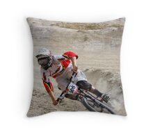 Cornering Speed Throw Pillow