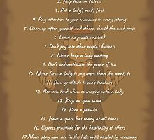 The Rules of a Gentleman by Exclamation Innovations