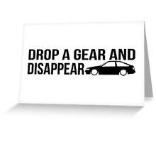 """Drop a gear and disappear"" - Toyota AE86 Greeting Card"