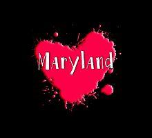 Maryland Splash Heart Maryland by Greenbaby
