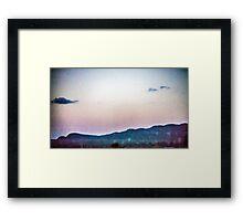 Static Sunset Framed Print