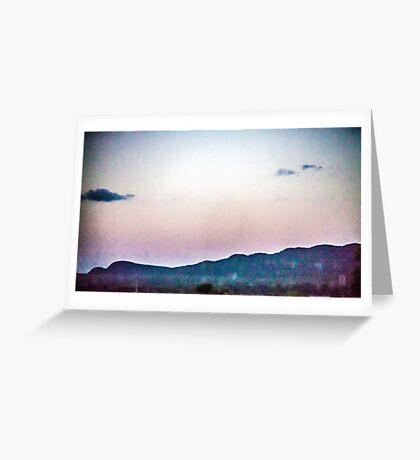 Static Sunset Greeting Card