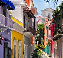 Colorful Streets of Old San Juan, Puerto Rico by George Oze