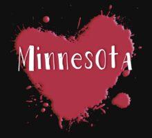 Minnesota Splash Heart Minnesota by Greenbaby