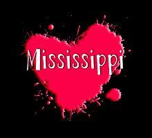 Mississippi Splash Heart Mississippi by Greenbaby