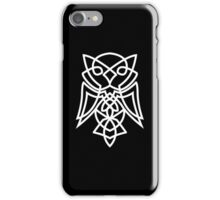 Knotted Owl (white) iPhone Case/Skin