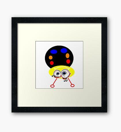 Silly bug Framed Print